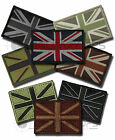 UNION FLAG JACK VELCRO BACKED PATCH EMBROIDERED WOVEN SUBDUED