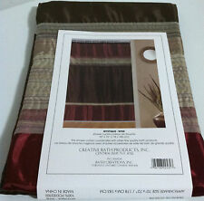 "Creative Bath Fabric Shower Curtain Modern Brown / Burgundy / Beige 72""X 70"""