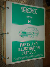 1985-1991 PONTIAC GRAND AM PARTS BOOK CATALOG NUMBERS BOOK WOW T SERIES 88 89 90