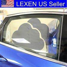 2X CLOUD CAR WINDOW SUN BLOCK SHADE Static Cling Tint for Baby Protection b