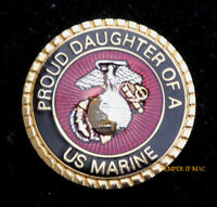 PROUD DAUGHTER OF A US MARINE HAT PIN MARINES IRAQ DAD MOM GIFT PROMOTION WOW