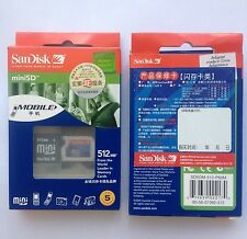 10pcs 512MB mini SD Card 512M with sd card adapter mobile sandisk