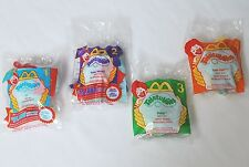 2000 Complete Set of 4:Soft TELETUBBIES Clips McDonald's Happy Meal Toys SEALED