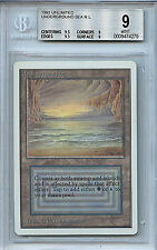 MTG Unlimited Underground Sea BGS 9.0 (9) Mint Dual Land Card Magic WOTC 4275