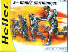 Heller 1:72 British 8th Army Figures Model Kit