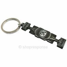 Subaru Metal Boxer Flat Engine Key Chain Holder Ring BRZ Impreza Legacy Official