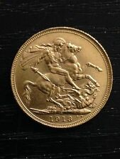 1913 'S' Full Sovereign St George Reverse George V Gold coin Sydney
