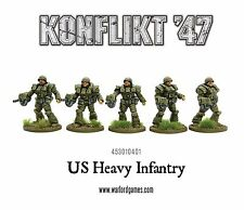 PREORDER SEP 24: Warlord Games: Konflikt '47: US: Heavy Infantry