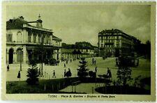 Cartolina Formato Piccolo - Torino - Piazza S. Martino E Stazione Di Porta Susa