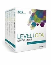 Wiley Study Guide for 2016 Level I CFA Exam Complete Set (2016, Paperback)