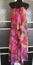 Forever new stunning silk maxi dress size 10 strapless silk