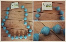 Uganda Recycled Paper Bead Necklace, Africa, Fair Trade