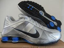 NIKE SHOX R4 FW LE METALLIC SILVER-BLACK-VARSITY ROYAL BLUE SZ 13 [386154-001]