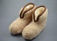 Hausschuhe, Hüttenschuhe, Pantoffeln, Schaffell, 100 % Schafwolle, Neu