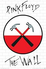 PINK FLOYD ~ THE WALL ~ CROSSED HAMMERS LOGO 24x36 MUSIC POSTER Movie Rock