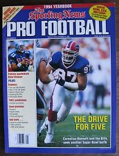 Football Magazine: 1994 TSN Pro Football Yearbook Magazine