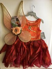 NWT Disney Store Size 9/10 Fawn Fairy Costume & Wings - Legend of the Neverbeast