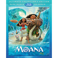 Moana 3D ( 2D/3D Blu-ray/DVD/Digital ) with Slip 2017