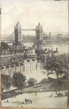 UK Postcard THE TOWER BRIDGE 1920s? card WWII London England TJC Co.