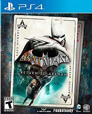 PLAYSTATION 4 BATMAN RETURN TO ARKHAM BRAND NEW VIDEO GAME