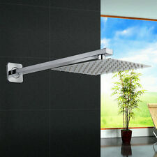 """Modern Bath 400mm Shower Head Arm And 8"""" Ultra Thin Top Spary Wall Mounted"""