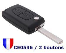 Coque Clé Plip Boitier Télécommande pour Peugeot 207 307 407 2 bouton VA2 CE0536