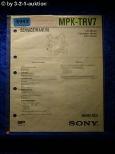 Sony Service Manual MPK TRV7 Marine Pack (#5943)