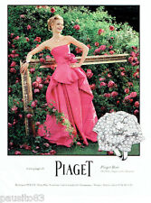 PUBLICITE ADVERTISING 086  2012  Piaget  joaillier bague  Rose or blanc