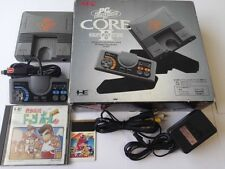NEC PC Engine Coregrafx2 Console PI-TG7 TurboGrafx16,Pad,AV Cable,game,Boxed-W5-