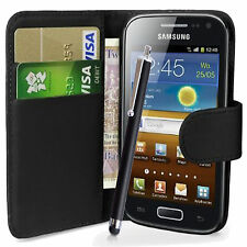 WALLET FLIP CASE POUCH PU LEATHER COVER FOR SAMSUNG GT-I9000 GALAXY S MOBILE