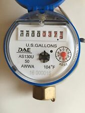 """DAE AS130U-50 1/2"""" Potable Water Meter with Pulse Output, Measuring in Gallon"""