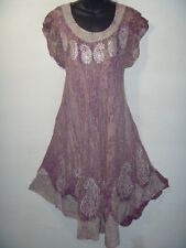 Dress Fit 2X 3X 4X Plus Purple Batik Marble Tie Dye Bell Shaped Sundress NWT 900