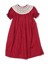 New Girl Rosalina Smocked Bishop Christmas Holiday Red Dress Size 5 Years