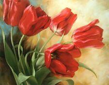Igor Levashov: Garden in Holland I Fertig-Bild 70x100 Wandbild Tulpen Blumen