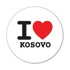I love KOSOVO - Aufkleber Sticker Decal - 6cm