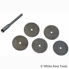 Silverline 656628 6pc HSS Steel Cutting Disc Kit 22mm Discs 3.1mm Mandrel Rotary
