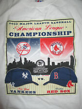 2003 American League WILD CARD Boston Red Sox vs NEW YORK YANKEES (M) T-Shirt