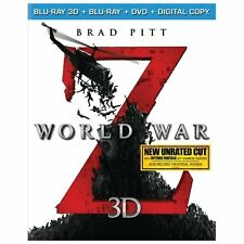 World War Z (Blu-ray 3D + Blu-ray + DVD + Digital Copy), New DVDs