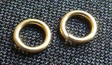 Solid 14Kt Gold 4mm open jump rings 22ga gold jewelry supplies gold findings