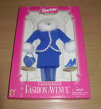 Barbie Fashion Avenue Mattel 1996 Boutique Blue Winter Suit That Fits Barbie