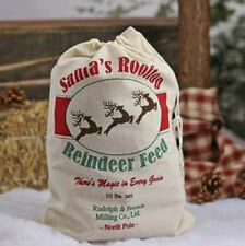 Santa's Rooftop Reindeer Feed Sack Stuffed With Fiber Fill