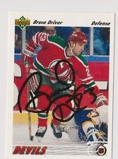 91/92 Upper Deck Bruce Driver New Jersey Devils Autographed Hockey Card
