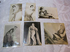 PIN UP GIRL MODEL RISQUE WOMAN REAL PHOTO LOT WWII  FROM SCRAP BOOK  LOT#2