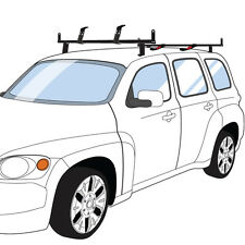 """Black Chevy HHR 2 bar J2000 series ladder roof rack with 60"""" bars w/ accessories"""