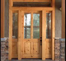 KNOTTY ALDER 2 Lite CRAFTSMAN ENTRY DOOR WITH SIDE LITES