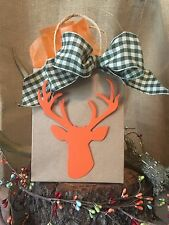 12 Deer Head Hunting Birthday party Baby Shower favor tags Any Color