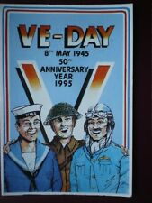 POSTCARD WWII 50TH ANNIVERSRY OF V E DAY