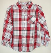 NWT Janie and Jack Holiday Hero Red Plaid Shirt Boy's Size 4