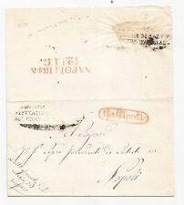 V597-REGNO DI NAPOLI-PUGLIE-PREF.DA GALLIPOLI A NAPOLI 12/7/1845