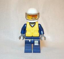 Genuine LEGO City Forest Police Minifigure 60070 Dark Blue with Yellow Life Vest